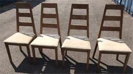 4 solid oak chairs