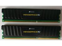 Corsair Vengeance Low Profile LP 4GB (2x2GB) 1600MHz 9-9-9-24 1.5V DDR3 Memory