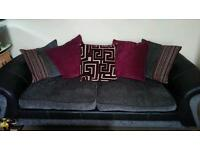 3-4 seater sofa and matching spinning cuddle chair.