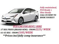 FROM £185 / WEEK-PCO CAR HIRE/RENT,UBER READY IN EDMONTON,NEWHAM,LONDONBRIDGE,MILEEND,BARNET-LONDON
