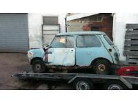 Classic mini Austin seven project 1961