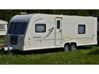 2010 Bailey Olympus 624 twin axle fixed bed 4 berth caravan