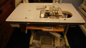 AngloSew 3-Thread Industrial Overlocker. Custom made table - fully countersunk.