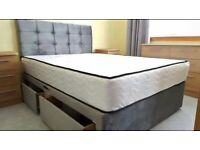 BRAND NEW PLUSH DOUBLE BED AND MATTRESS