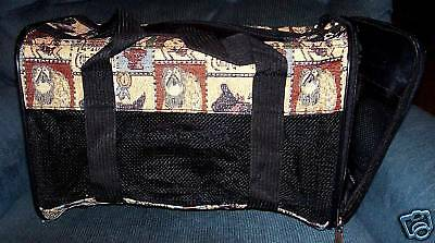 Luggage Style Pet Carrier (Dog Tapestry 16