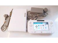 Nintendo Wii U Console + Gamepad Controller + Splatoon Video Game Bundle White Retro Childrens Kids