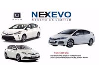 FROM £110/WEEK PCO CAR HIRE/UBER READY CARS/TOYOTA PRIUS/HONDA INSIGHT,7 SEATS RENT