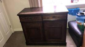 Mahogany sideboard antique shabby chic project