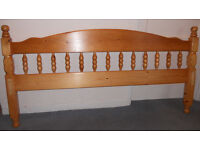 Double Headboard - Solid Pine - Decorative