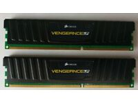Corsair Vengeance Low Profile LP 4GB (2x2GB) 1600MHz 9-9-9-24 1.5V DDR3 Memory