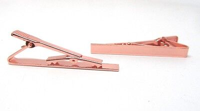 1 pc. Rose Gold Plated Tie Bar / Clip - 55x5mm Glue Pad - Over 2 inches long!