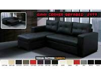 Faux Leather Giani Corner Sofabed