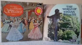 The Music of Johann Strauss vol 2 (Double LP) plus The World of Johann Strauss