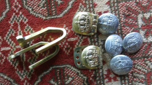 German  WW1 German  1915 Tunic button and belt hook set