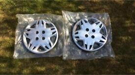 "2 Brand New Renault Clio 14"" Wheel Trims"