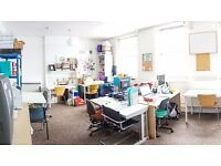 London: Cheap desk space in friendly charity office available