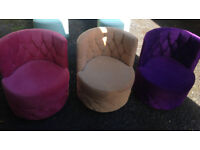 3 X retro armchair sofa from mid century purple beige pink