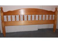 Double Headboard - Solid Pine - Decorative