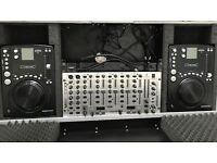 Disco mixer and cd decks
