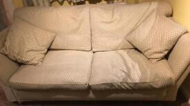 Pale yellow / grey John Lewis sofa
