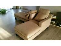 Dwell sofa chair lounge L shape beige chaise