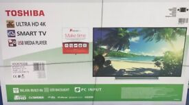 43 TOSHIBA smart tv 4K ultra HD with freeview play brand new sealed box