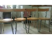 4 STURDY KITCHEN/DINING CHAIRS