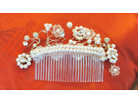Make it a day to remember with this stunning Handmade Crystal, Pearl & Diamonte Tiara