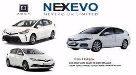 FROM £ 110/WEEK PCO CAR HIRE/UBER READY CARS /TOYOTA PRIUS/HONDA INSIGHT,7 SEATS RENT