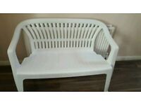 White garden bench for sale