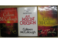 Colleen McCullough hardback books