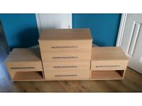 Modena 2 bedside tables + chest of drawers