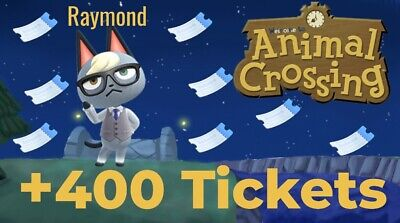 Raymond Or Any Villager + 400 Nook Mile Tickets Animal Crossing New Horizons