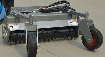 """48""""HYD Angle Power Rake For Dingo, Boxer, Ditch Witch, Mini Skidsteer Harley"""