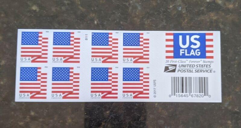 20 U.S. Flag 2018 USPS Forever® USPS Stamps. (1 Book of 20)