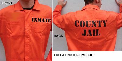 BIG & TALL INMATE PRISON Halloween Costume 2X 3X 4X 5X - Big And Tall Halloween Costumes 5x
