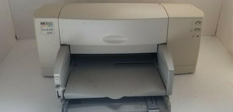 Vintage HP Deskjet 812C Color Inkjet Printer w/ Power Supply **UNTESTED** NO INK