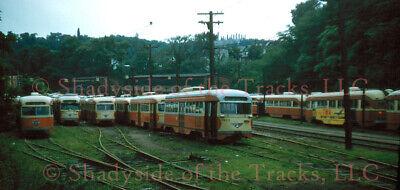 Pittsburgh Railways PRCo PCC Streetcar #1623 Original Slide South Hills