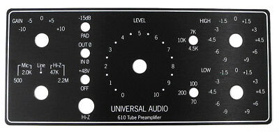 UA LA-610 MK-II Replacement Left Side Front Panel w/Peak Reduction, Gain Etc. UZ