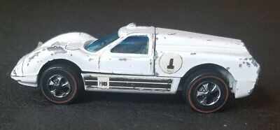 Hot Wheels Redline 1967 HK Ford J-Car White Enamel Painted Base