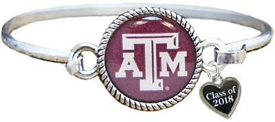 Custom Texas A&M Aggies Bangle Bracelet Class of 2017-2025 Graduation - Texas A&m Graduation