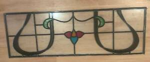 Stained glass - above door