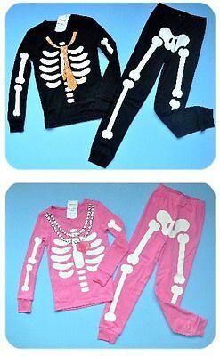 NWT Gymboree SKELETON Halloween Costume 2011 Pajamas - Skeleton Pyjamas Adults