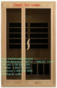far infrared one person sauna $1999.  far infrared dry sauna, two person sauna $2099,