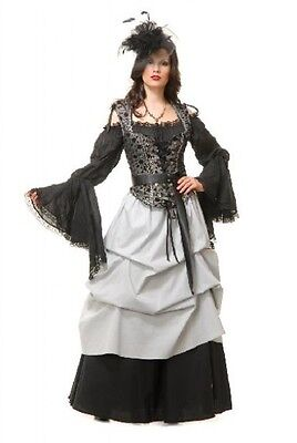 ADULT WOMENS LADY BLACK PIRATE BLOUSE PEASANT RENAISSANCE WENCH COSTUME SHIRT](Ladies Pirate Blouse)