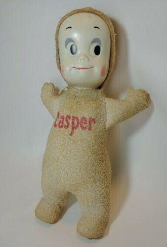 Mattel Harvey Casper the Friendly Ghost Talking Pull String Doll Toy 15 inch