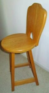 ~ Counter Height TALL Swivel Seat CHAIR ~~ OAK