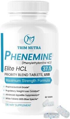 1 CT Phenemine Elite White/Blue Tabs Fat Burners 37.5 Slimming Best Diet Pills