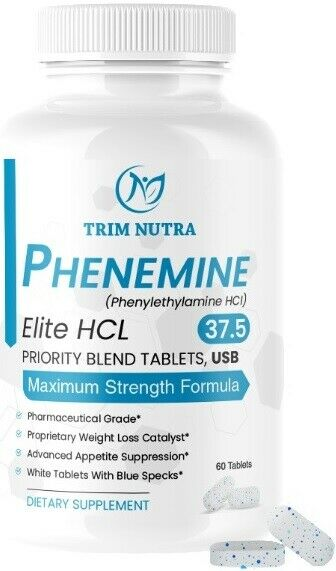 1 Phenemine Elite 37.5 White/Blue Burn Fat Burners Adipex P  Diet Pills 3