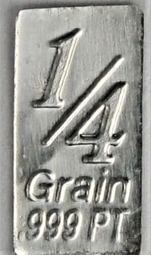PLATINUM Pure .9995 PLATINUM 1/60 of a gram INVESTMENT BULLION BAR
